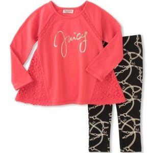 Juicy Couture Girls Tunic Legging Set 3T